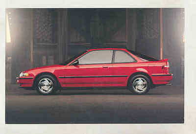 1991 Acura Integra Large Factory Postcard mx8541