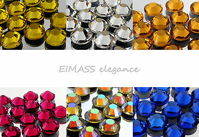 Eimass® Non-Hot Fix Glass Crystals Flat-Back Rhinestones Diamante, Gems, 7787