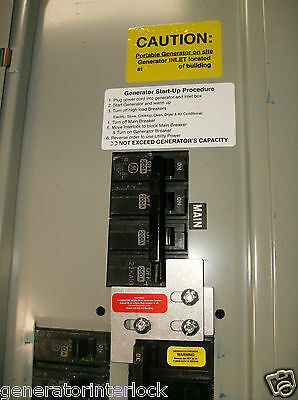 GE-200A General Electric GE Generator interlock kit 150 or 200 Amp Panel Listed