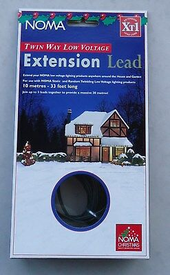 Noma 10M (33 feet) Twin Way Low Voltage Extension Lead for Christmas Lights