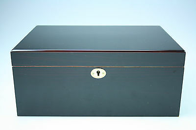Large Luxury Wooden Cigar Humidor Box - Brand New - High Gloss Finish - On Sale!
