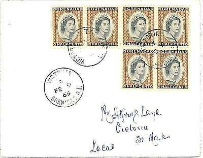 GRENADA -  POSTAL HISTORY: COVER with postmark: VICTORIA 1965
