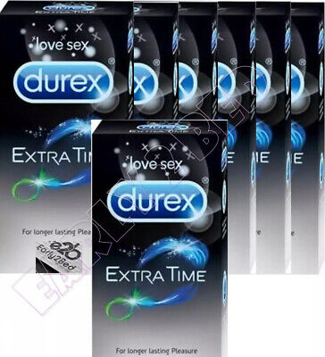 Durex Extended Pleasure Performa Longer Lasting Delay Sealed Box's 50 Condoms