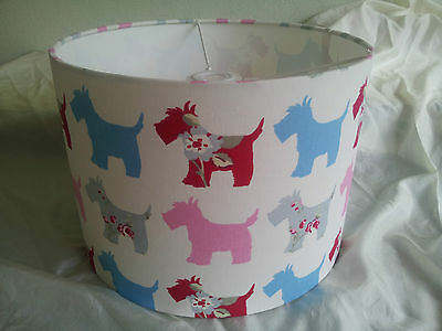 "12""/30CMLAMPSHADE MADE FROM Clarke and Clarke  FABRIC( Scotties PINK)"