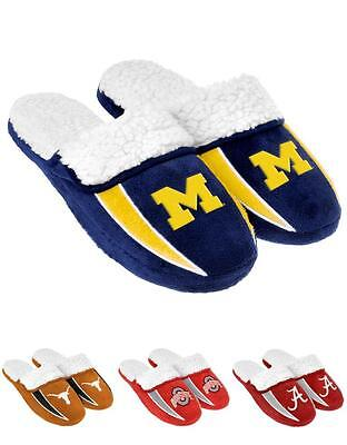 NCAA 2013 Sherpa Slide Shoe Slippers - NEW! - Pick Your Team!