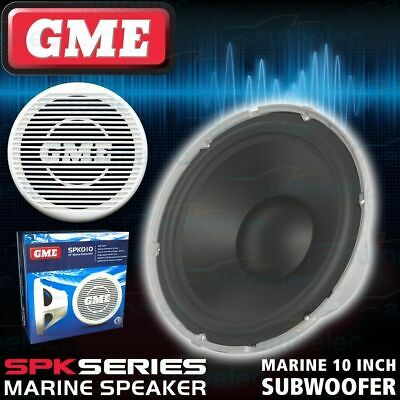 "Gme Spk010 10"" Subwoofer Outdoor Waterproof Flush Suit Cd Stereo Am Fm Marine"