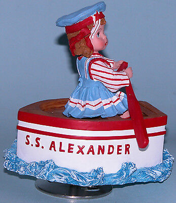 "Madame Alexander resin doll ""Row row row Your Boat"" #90355 music box rotates"