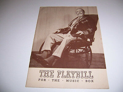 1940 Music Box Theatre Playbill - The Man Who Came To Dinner - Monty Woolley