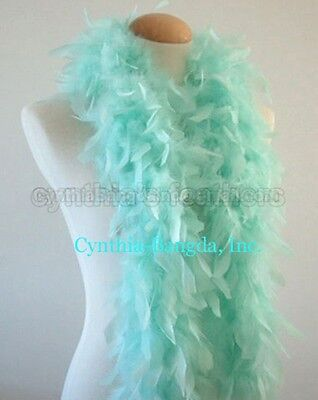 Mint Green 45 Grams Chandelle Feather Boa Dance Party Halloween Costume