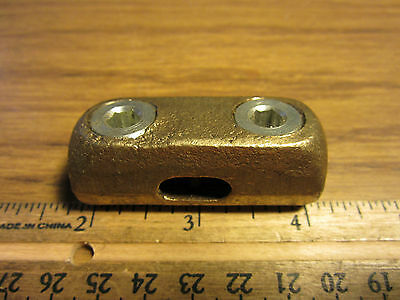 Copper Bolted Lug End to End SPLICE TWO WAY Connector 1 - 4/0 Strand Wire Cable