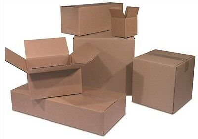 100 4x4x8 Cardboard Shipping Boxes Corrugated Cartons
