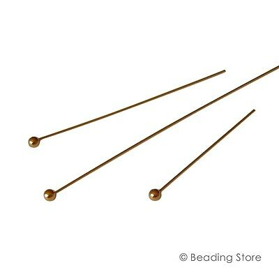 2 or 20 14ct Yellow Gold Filled 2mm Ball Bead Head Pins Headpins Various Sizes