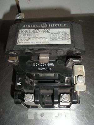 GE CR360L402AAZ lighting contactor 2 pole NNB 120 vac coil 60A 8 avail USA