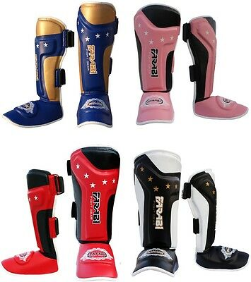 Farabi T tech Kids junior shin pads instep training mma kick boxing protector