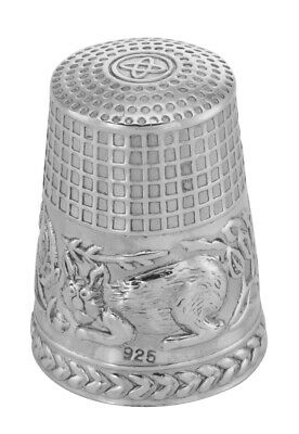 Sterling Cat Thimble