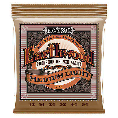 Ernie Ball 2146 Acoustic Guitar Strings Medium/Light 12-54  - New