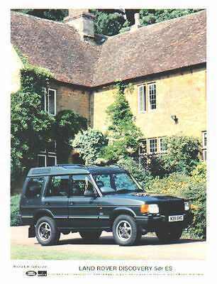 Land Rover Discovery ES 5 door 1996 Original colour Press Photo
