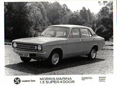 Morris Marina 1.3 Super 4 door original b&w Press Photo No. 259814