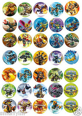 SKYLANDER SWAP FORCE 32 CUP CAKE TOPPER PARTY 3.75CM EDIBLE diy
