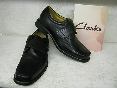 Clarks Handle Roll Black Leather Smart Shoes