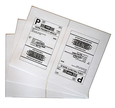 Labels 8.5x5.5 2000 Shipping 8.5x5.5 Half-Sheet Self Adhesive VM Brand Labels
