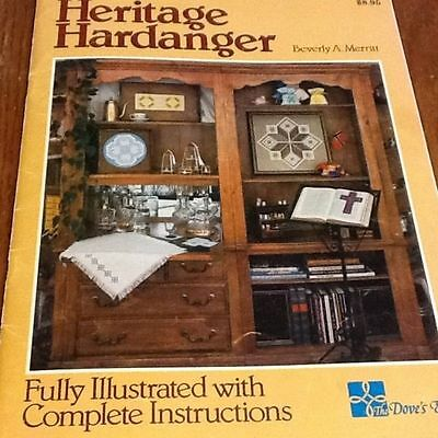 Heritage Hardanger Dove's Eye Fully Illustrated With Directions Merritt Rare