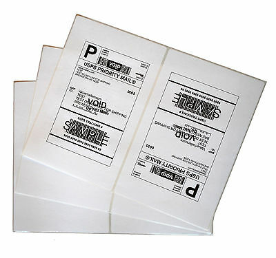 Labels 8.5x5.5 4000 Shipping 8.5x5.5 Half-Sheet Self Adhesive VM Brand Labels