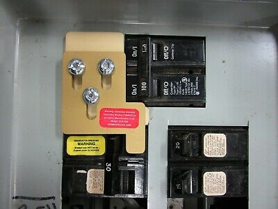 CCH-100 Challenger or Crouse Hinds Generator interlock kit 100 Amp Panel