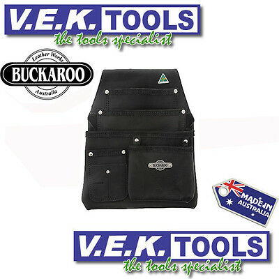 Buckaroo Leather Tools H/dty Nail Bag/tool Belt-Formworkers 4Pocket Bag-Nbf4B