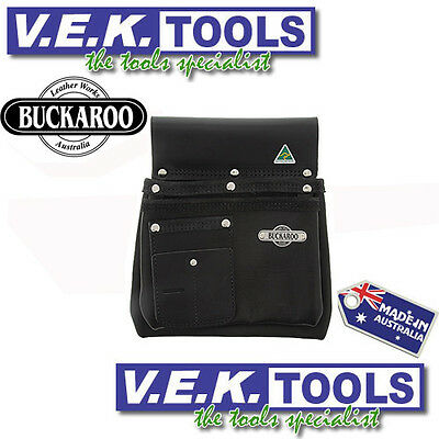 Buckaroo Leather Tools H/dy Nail Bag/tool Belt-2Pocket Nail Bag-Nbs2B-Aus Made