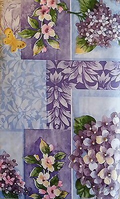 Flannel Back Vinyl Floral Tablecloths by Elrene Assorted Sizes Oblong & Round