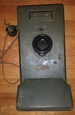Vintage Western Electric 317DU Telephone with Push To Talk;  Military? - RARE