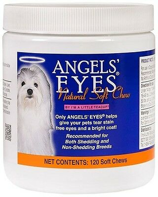 Angels Eyes Natural Tear Stain Remover, SOFT CHEWS - 120 Count, CHICKEN FLAVOR