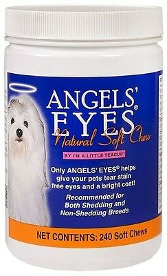 Angels Eyes Natural Tear Stain Remover, SOFT CHEWS - 240 Count CHICKEN FLAVOR
