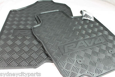 Toyota Rav4 Front Rubber Floor Mats Pair Nov 2005 - Dec 2012 Genuine Accessory