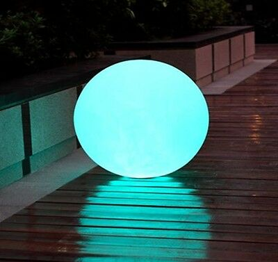 """LED ILLUMINATED FURNITURE 9.75"""" ROUND LED BALL WITH REMOTE ORB -USA SELLER-"""
