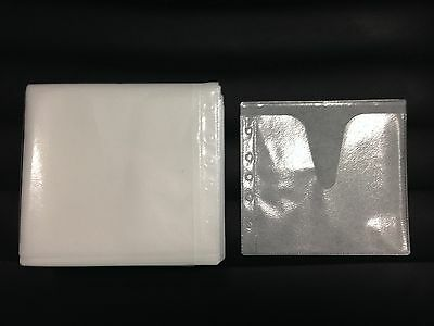 100 White Double Cd Dvd Blu Ray Video Game Plastic Sleeve Envelope Hold 200