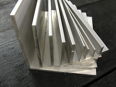 "ALUMINIUM ANGLE x 500mm Lengths All sizes from 1/2"" to 4"" Available Equal Angle"