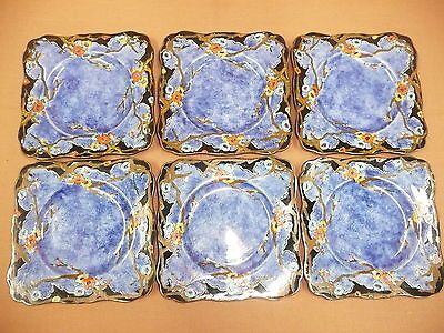 Set of 6 Royal Winton Side or Cake Plates, hand painted