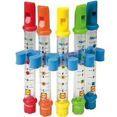 Water Flutes Music Song Sheets Instruments Kids Fun Children Bath Toy Set Of 5