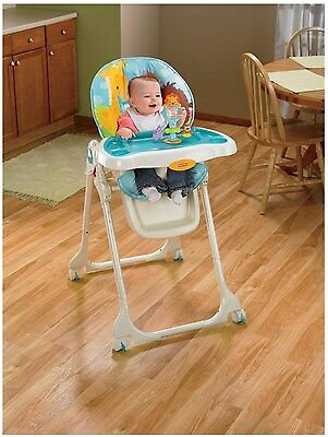 Fisher-Price Precious Planet Sky Blue Comfy Baby Babies Feeding High Chair NEW!