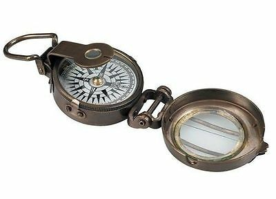 Authentic Models CO014 WWII Brass Pocket Compass Replica