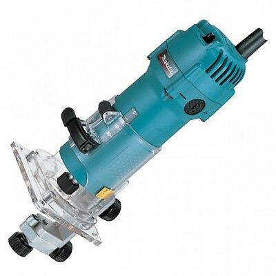 Makita 3707F 1/4 inch Trimmer 240V with standard 3 pin UK plug