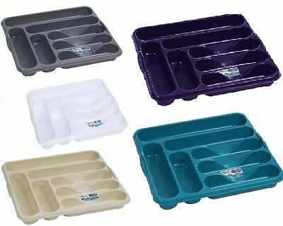 Plastic Large Cutlery Tray 7 Compartment Basin Tidy Organiser Kitchen Utensil