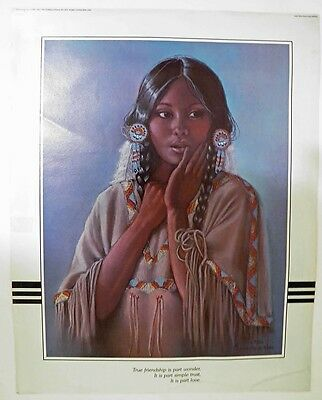 """PENNI ANNE CROSS (Alawa-sta-we-ches) - Indian Maiden Print (16"""" x 20"""")"""