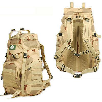 60L Waterproof Outdoor Sports Backpack Bag Tactical Military Bag Camping Travel