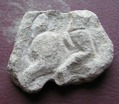 Authentic Ancient Artifact - CARVED MARBLE STONE FRAGMENT   HORSE & RIDER  11128