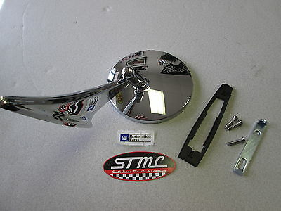 66 67 68 El Camino Left Exterior Bowtie Chrome Mirror Gm Authorized Part