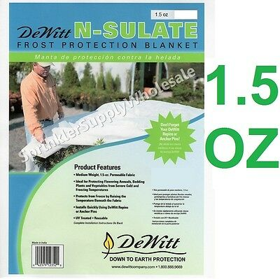 DeWitt N-Sulate 12'x250' 1.5oz Fabric Protection Frost Freeze Blanket NS12250