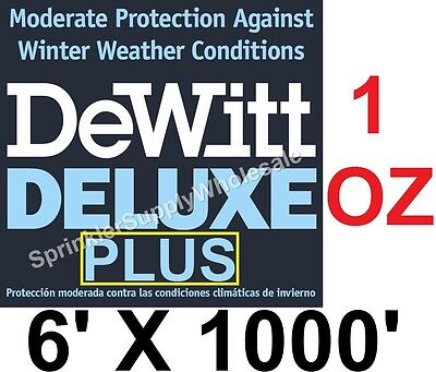 DeWitt Deluxe PLUS 6'x1000' 1oz Frost Cloth Germination Blanket DeluxePlus6-1